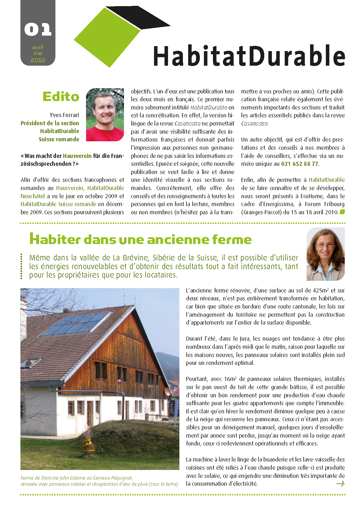 HabitatDurable 1 | avril/mai 2010