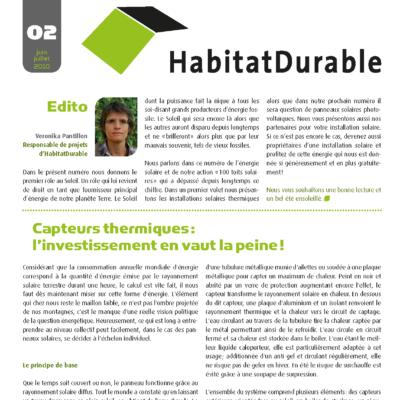 HabitatDurable 2 | juin/juillet 2010