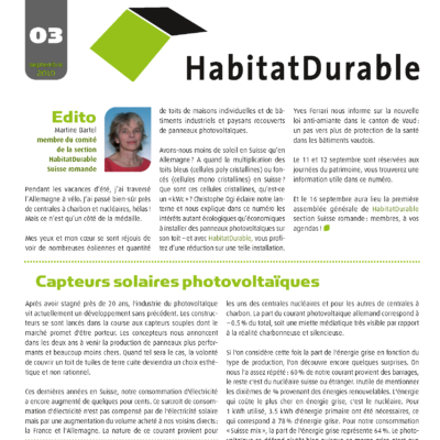 HabitatDurable 3 | septembre 2010