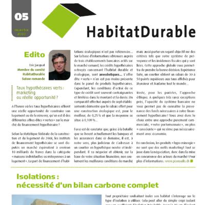 HabitatDurable 5 | décembre 2010