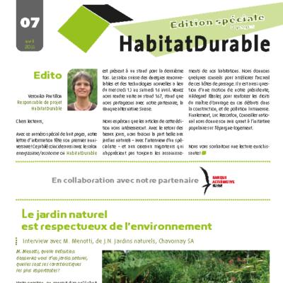 HabitatDurable 7 | avril 2011