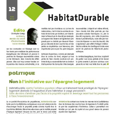 HabitatDurable 12 | mars 2012
