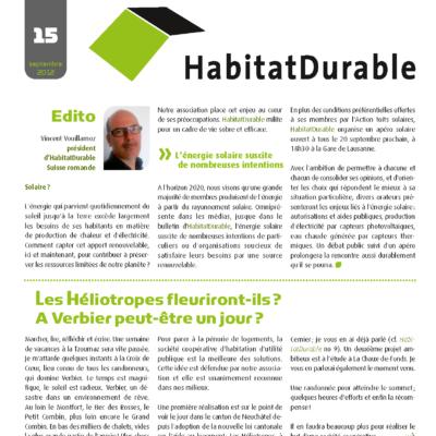 HabitatDurable 15 | septembre 2012