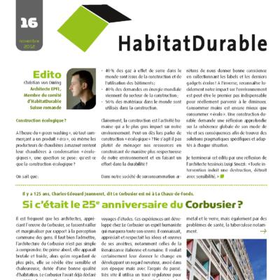 HabitatDurable 16 | novembre 2012