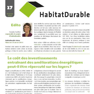 HabitatDurable 17 | décembre 2012
