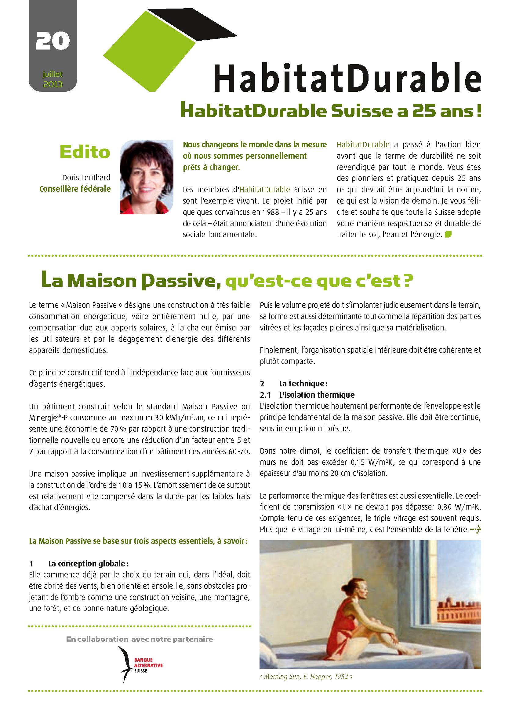 HabitatDurable 20 | juillet 2013