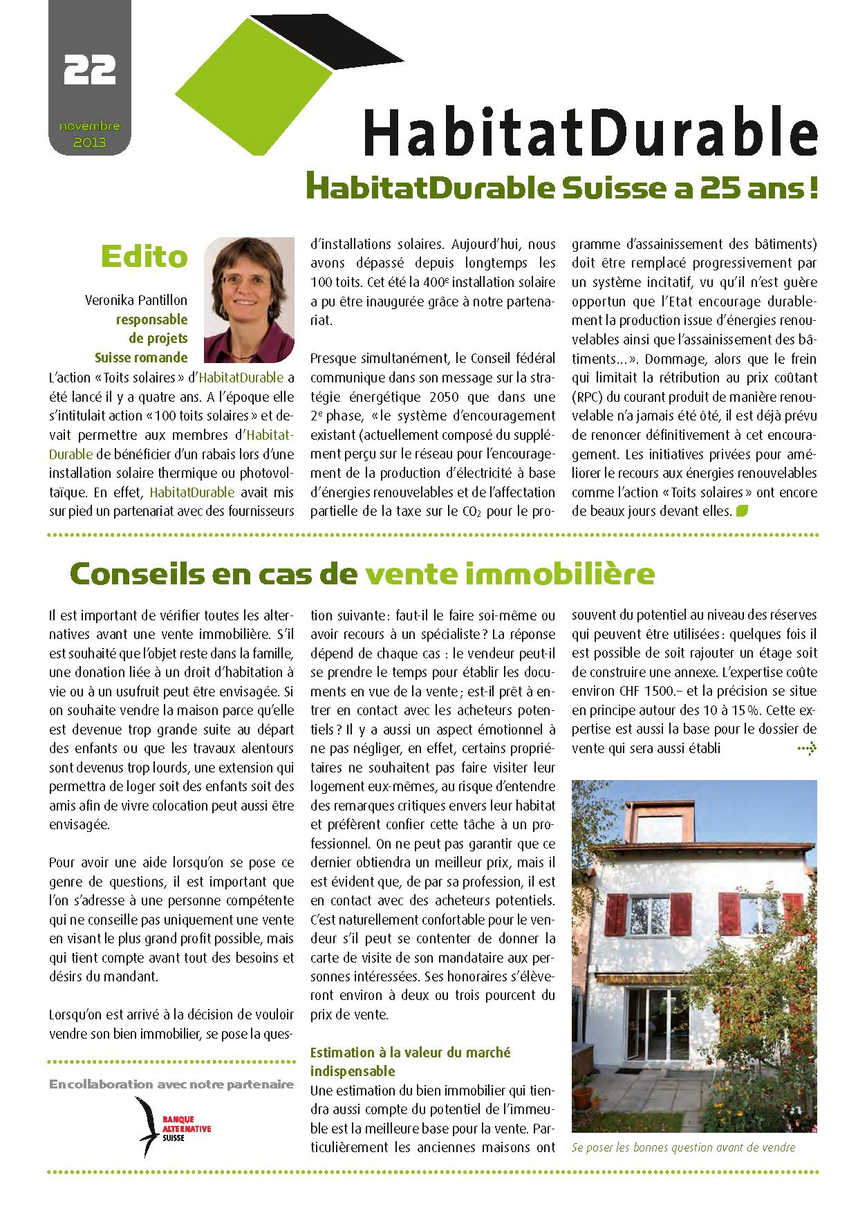 HabitatDurable 22 | novembre 2013