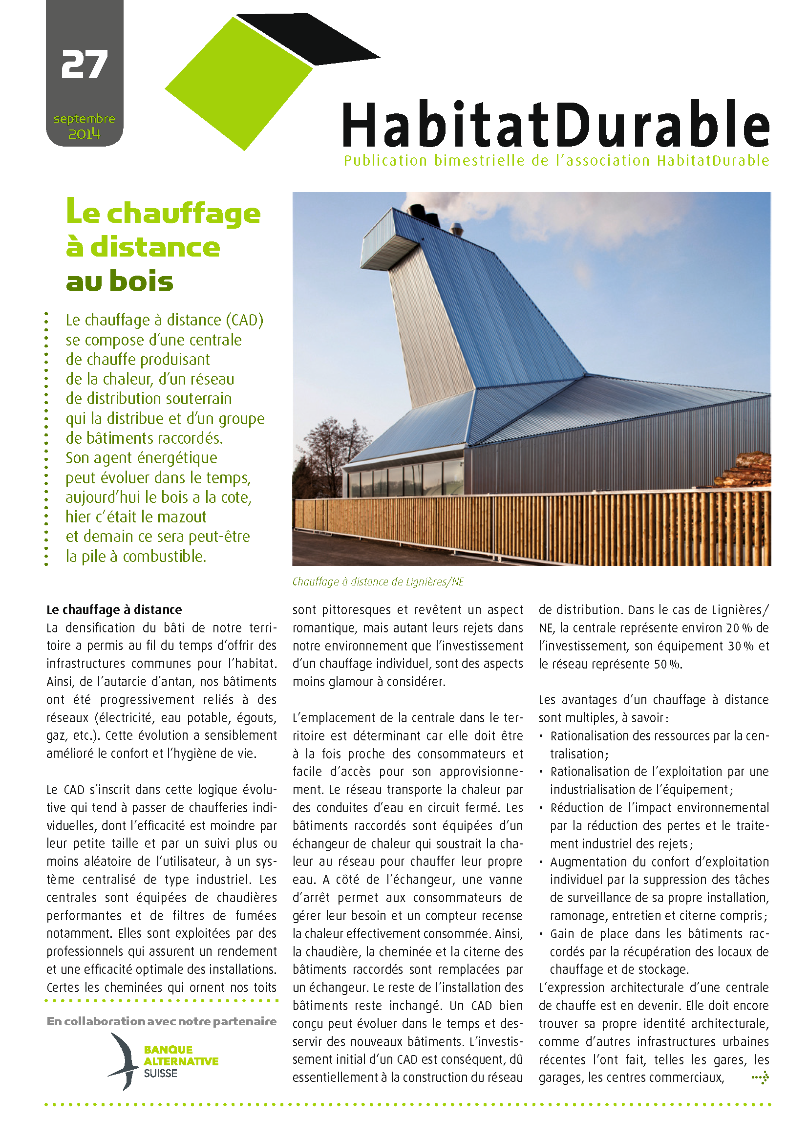 HabitatDurable 27 | septembre 2014