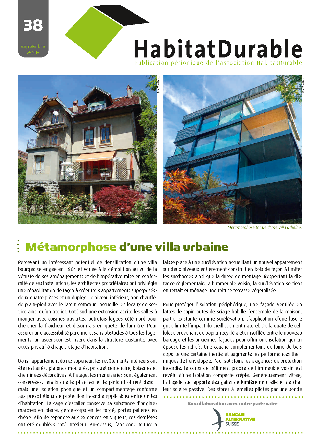 HabitatDurable 38 | sep­tembre 2016