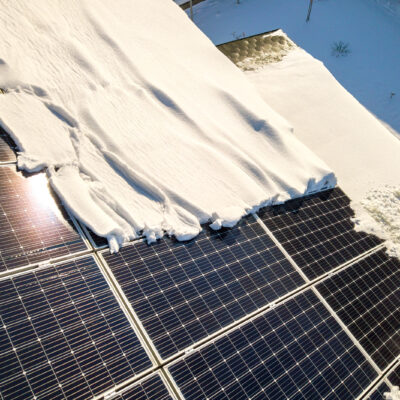 Les installations solaires enhiver